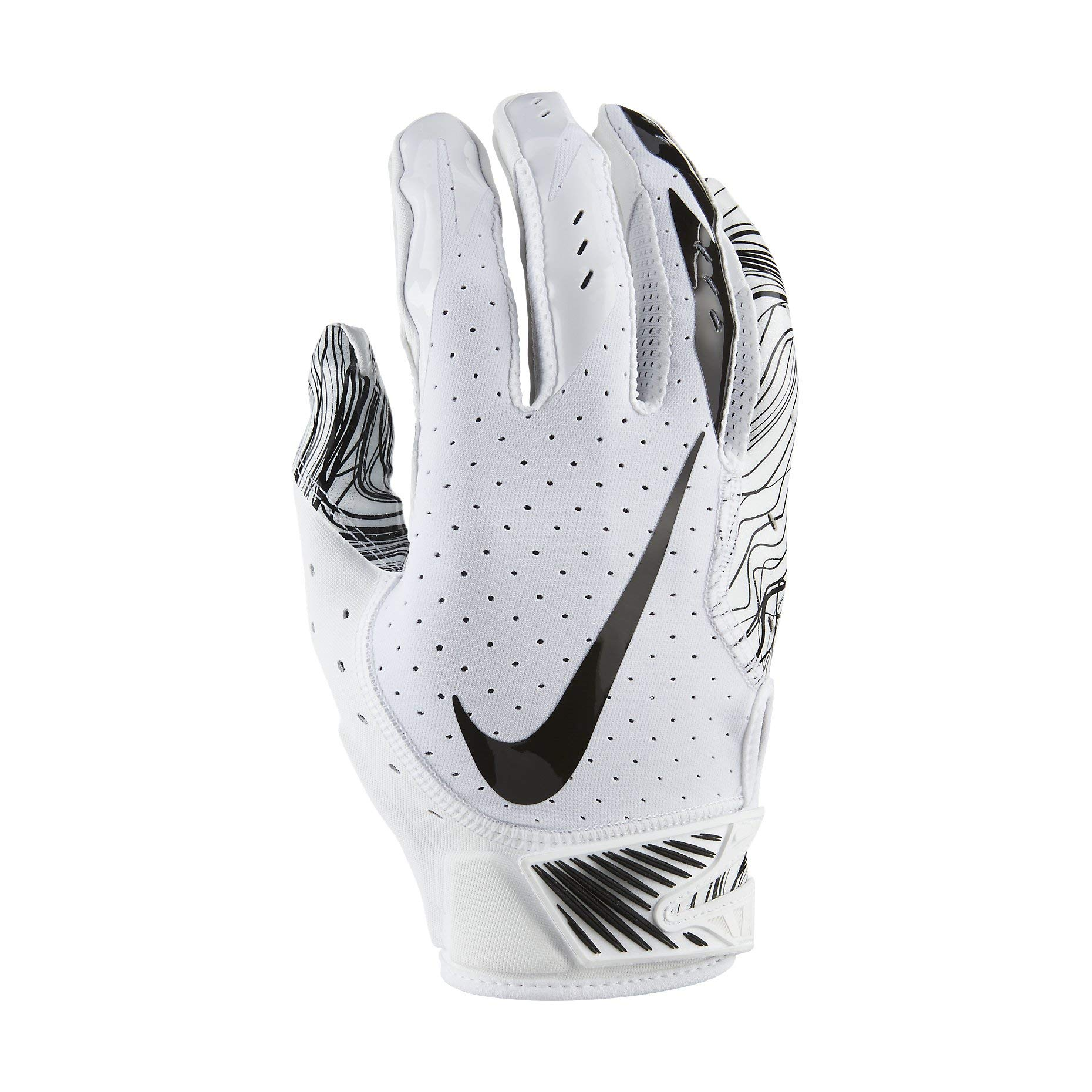 Nike Adult Vapor Jet 5.0 Receiver Gloves 2018 (White/Black, Small)