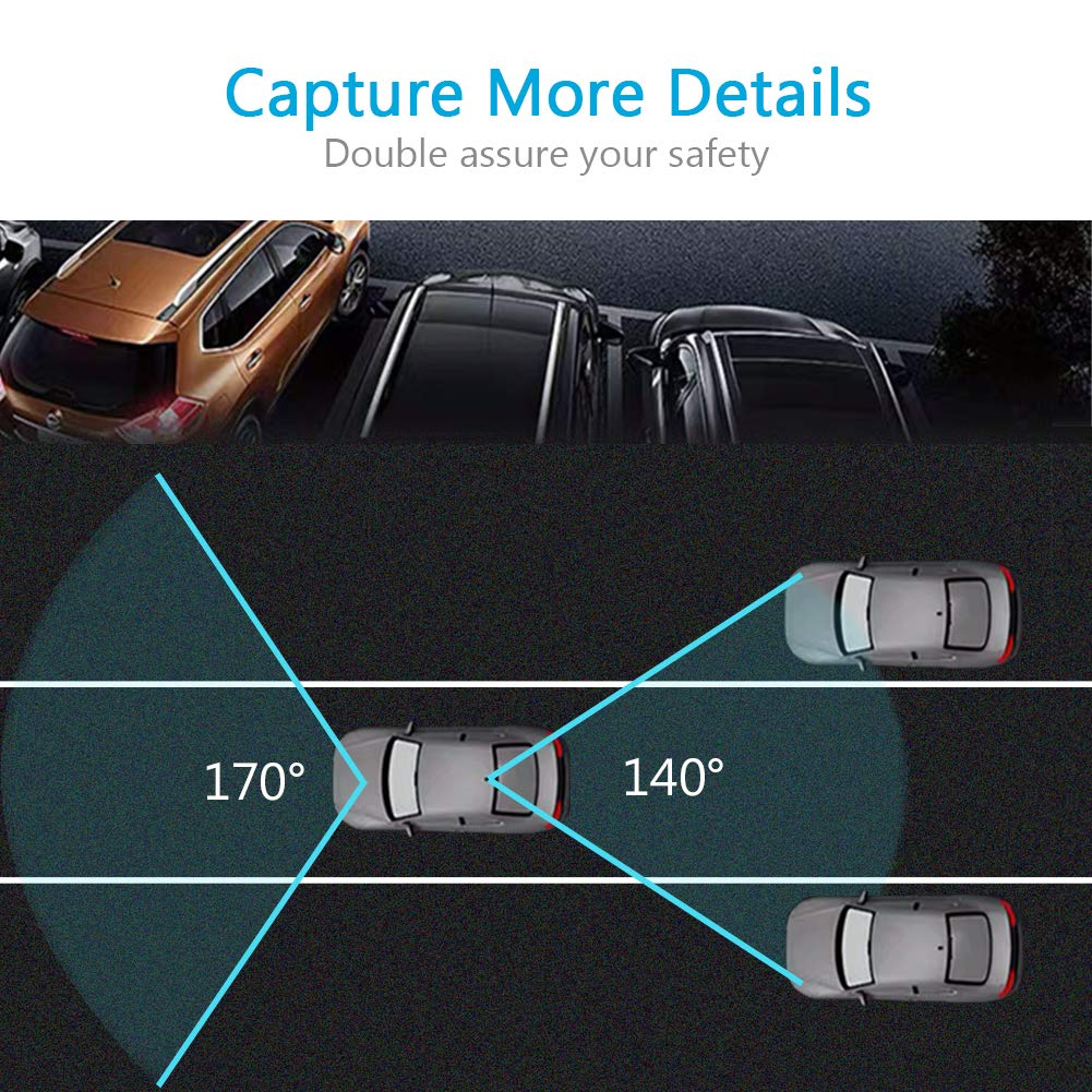 VICTOR Mirror Dash Cam Rear View Mirror Backup Camera Night Vision Goggles Parking Mode Multifunctional Car DVR Motion Detection Loop Recording 170/°A Wide View Reverse Camera 1080P FHD