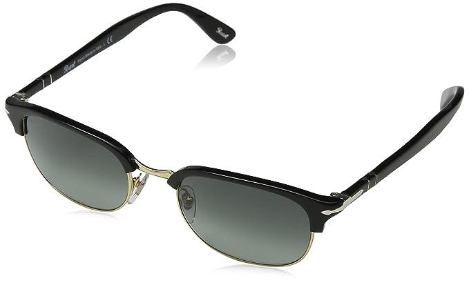 0PO8139S Sunglasses, Brown (Gestell: Helles Horn, Gl?ser: Polarisiert Blau 1046S3), Medium Persol