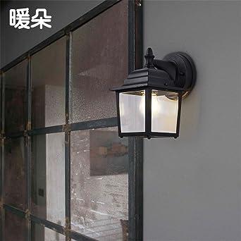 ShengYe moderno Vintage aplique lámpara de pared de luz Balcón exterior Apliques PASILLO Pasillo Vintage impermeable Apliques Jardín Jardín Salón Apliques de pared: Amazon.es: Iluminación