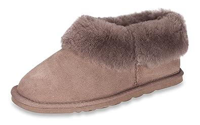 87368c4c6c94d Nordvek Slippers Women - Sheepskin Boots - Hard Non Slip Sole - Cushioning  Ankle Cuff #