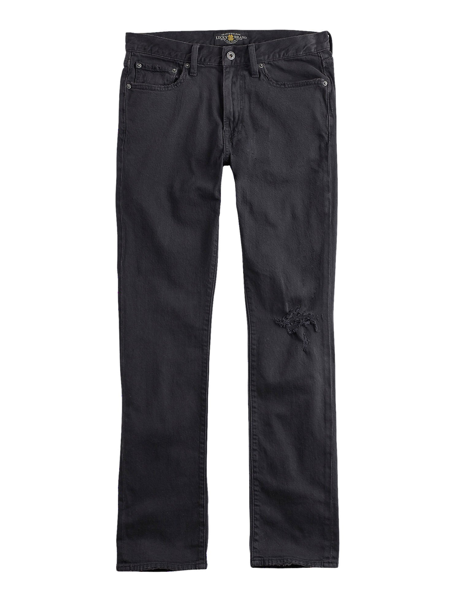 fe074ba1 Lucky Brand Men's Athletic Fit Destroyed Jeans Walker Lake Black ...
