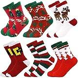 October Elf 6 Pack Women Christmas Socks Winter Warm Cozy Socks