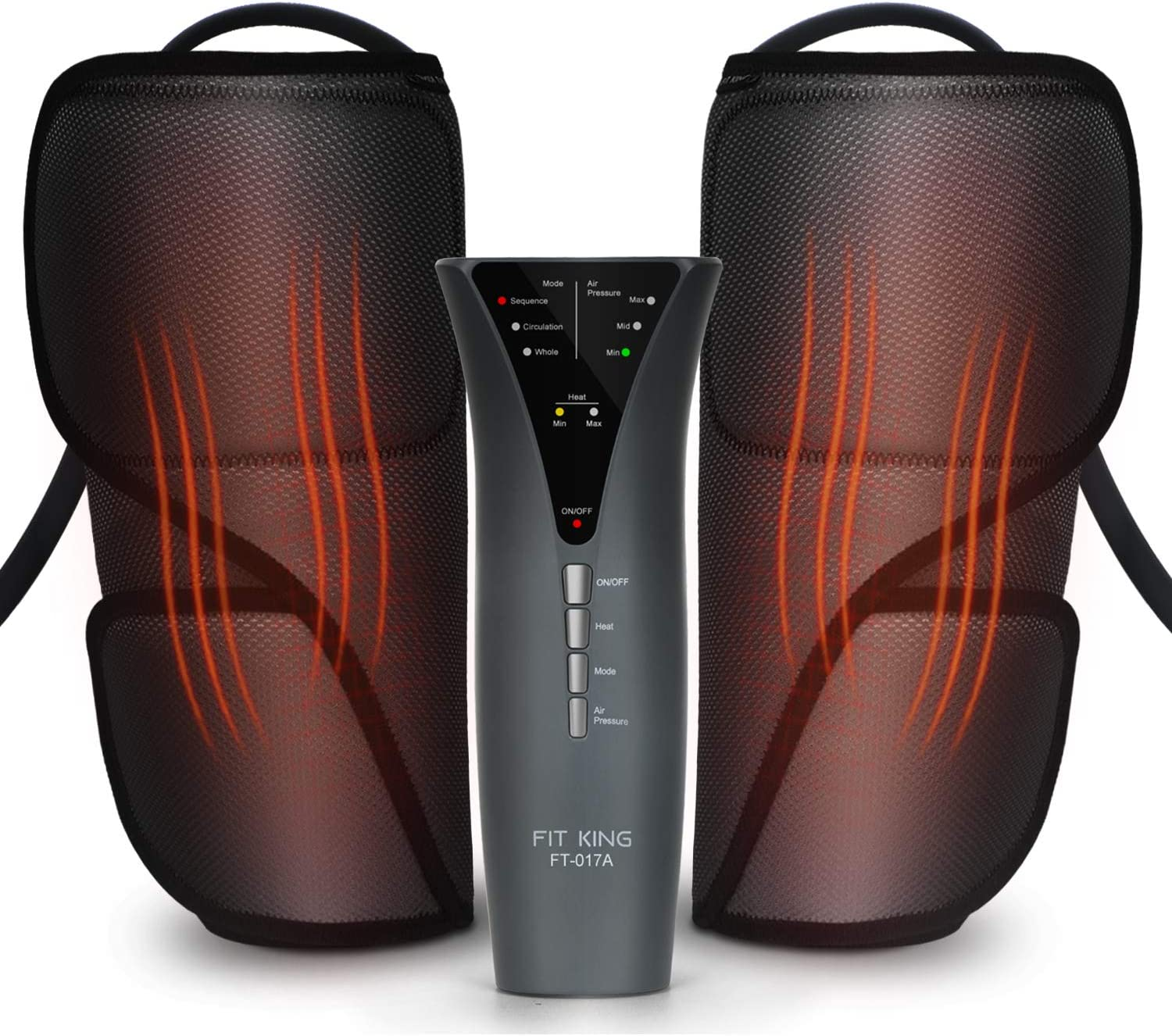 FIT KING Leg Massager with Heat for Circulation Air Compression Calf  Massager with Hand-held Controller FT-017A: Amazon.co.uk: Health & Personal  Care