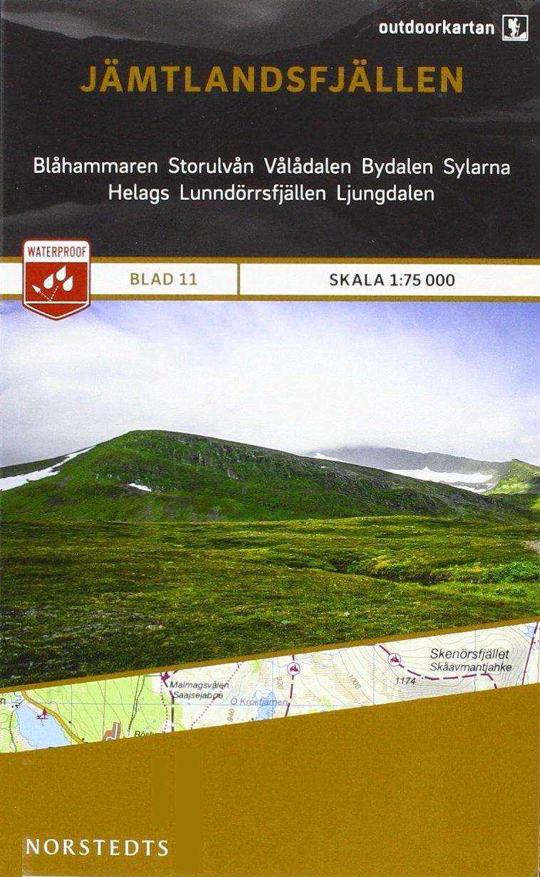 Outdoorkartan Schweden 11 Jämtlandsfjällen 1 : 75 000: amtliche Karte