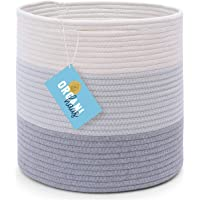 Cotton Rope Standing Planter Baskets - Wide Variety of Sizes and Colors