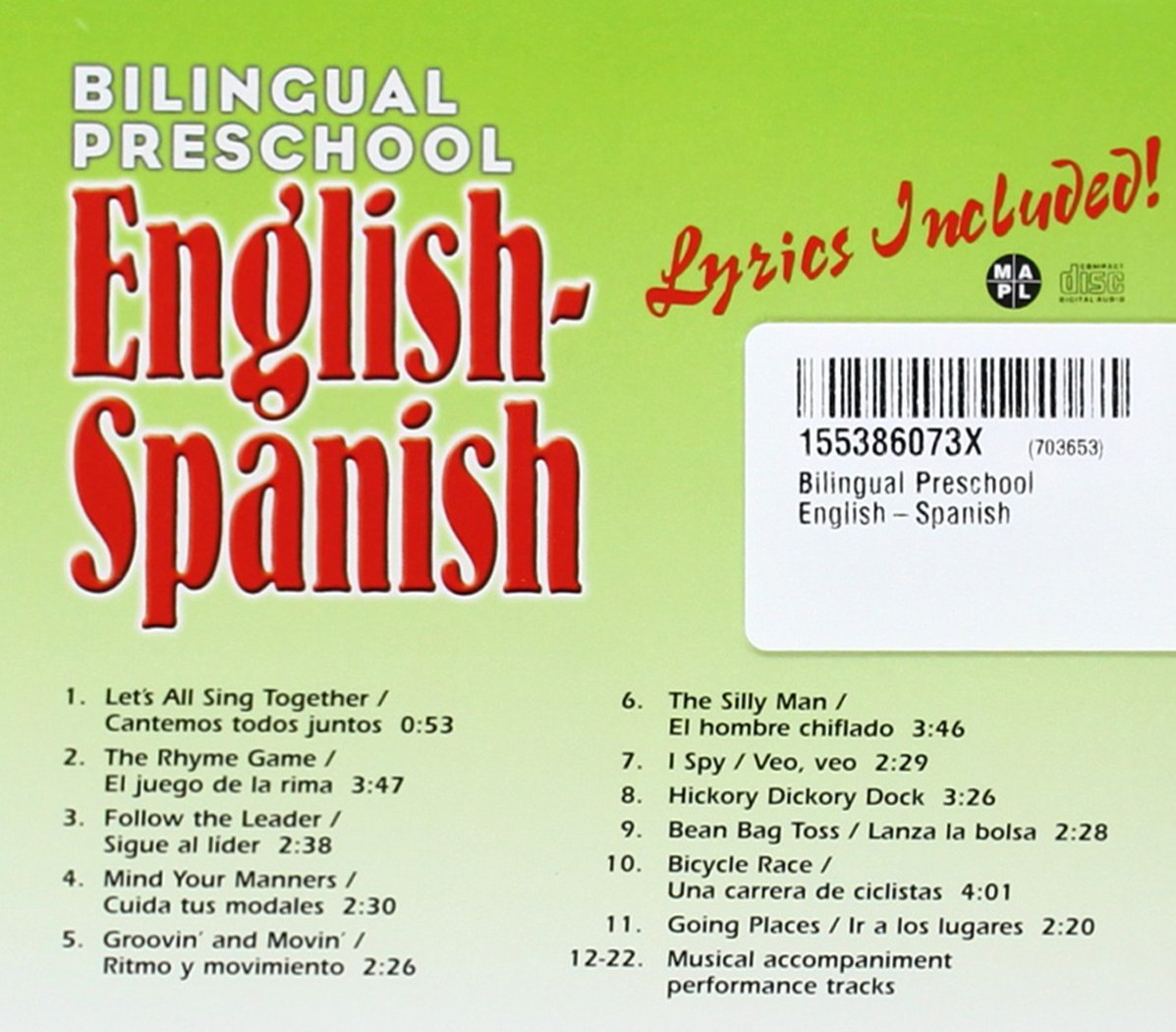 Bilingual Preschool: English-Spanish, Audio CD (English and Spanish Edition)