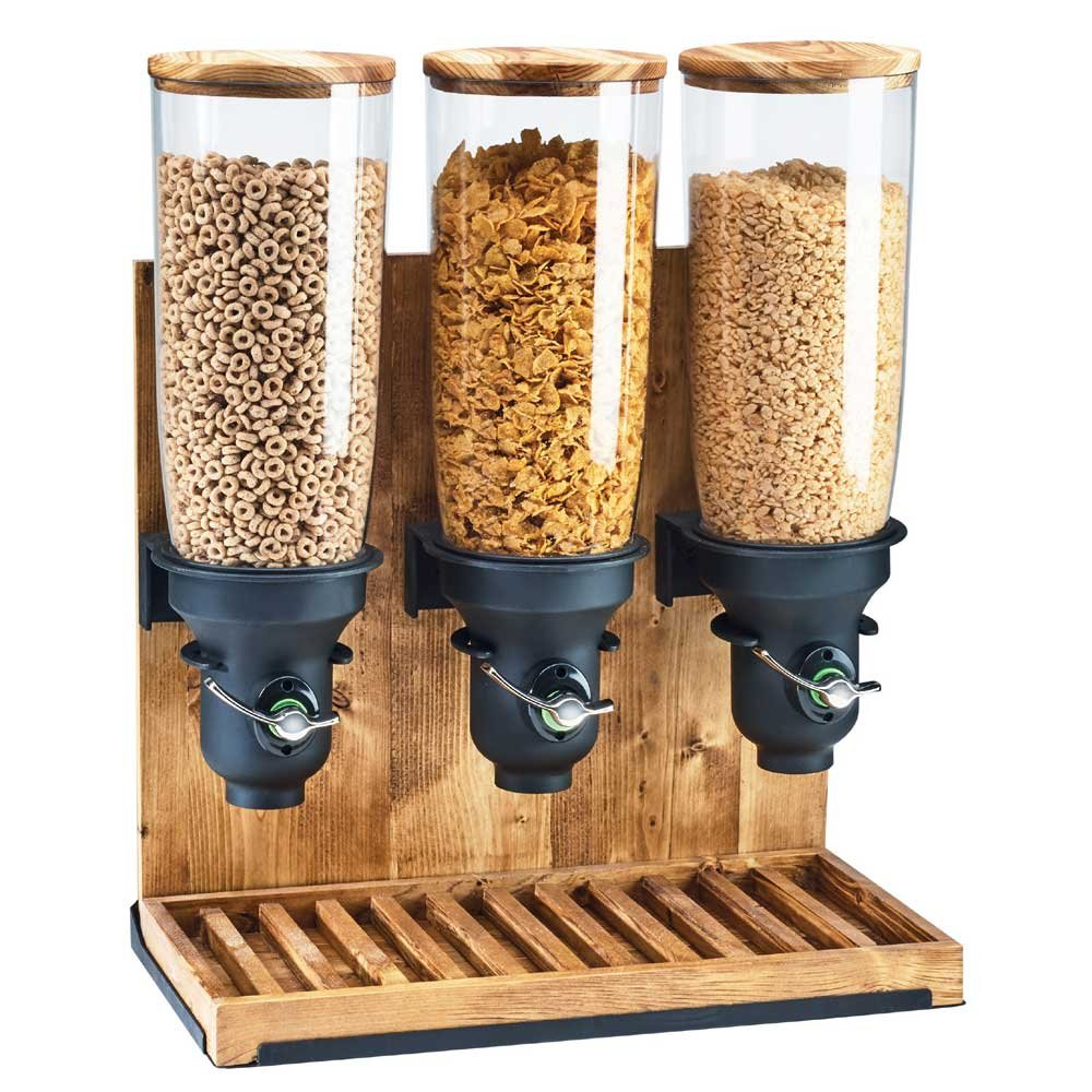 """Cal-Mil 3576-1-99FF Free Flow Cereal Dispenser, 1 Cylinder, 26.5"""" Height, 8"""" Width, 9.5"""" Length, Madera"""