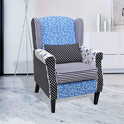 Amazon.com: SKB - Sillón familiar de patchwork Relax estilo ...