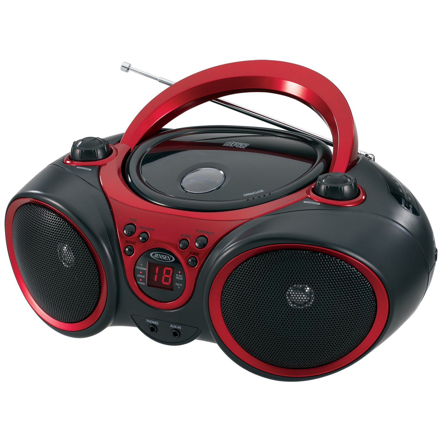 Superior Amazon.com: Jensen CD 490 Sport Stereo CD Player With AM/FM Radio And Aux  Line In, Red And Black: Home Audio U0026 Theater