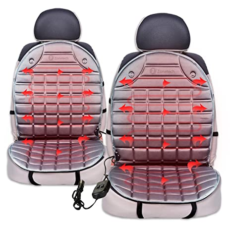 Amazon.com: Zone Tech Car Heated Seat Cover Cushion Hot Warmer - 2 on ez go hard enclosure, ez go winter cover, ez go golf cover chameleon, ez go txt, ez go seat back design, yamaha golf car seat covers, ez go golf carts black and red, sexy car seat covers, ez go rxv, club car seat covers, ez go lift kit, ez go accessories, western print seat covers, ez go model precedent, yamaha golf cart covers, aztec seat covers, ez go replacement parts, go kart seat covers,