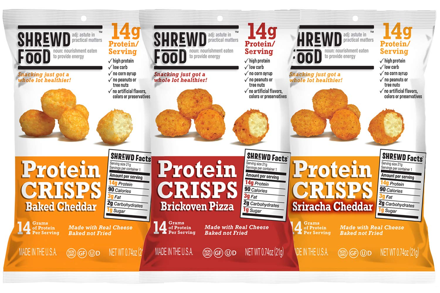 Shrewd Foods Protein Bites Variety Fun Pack (9 Count)