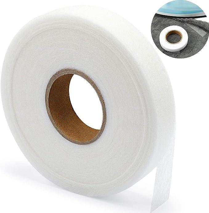 Cinta de Dobladillo de Hierro Cinta de Fusión de Tela Cinta de Unión Fusible Cinta Adhesiva para Pegar Ropa Jeans Pantalones Collares, 100 yardas (3/4 Plug): Amazon.es: Hogar