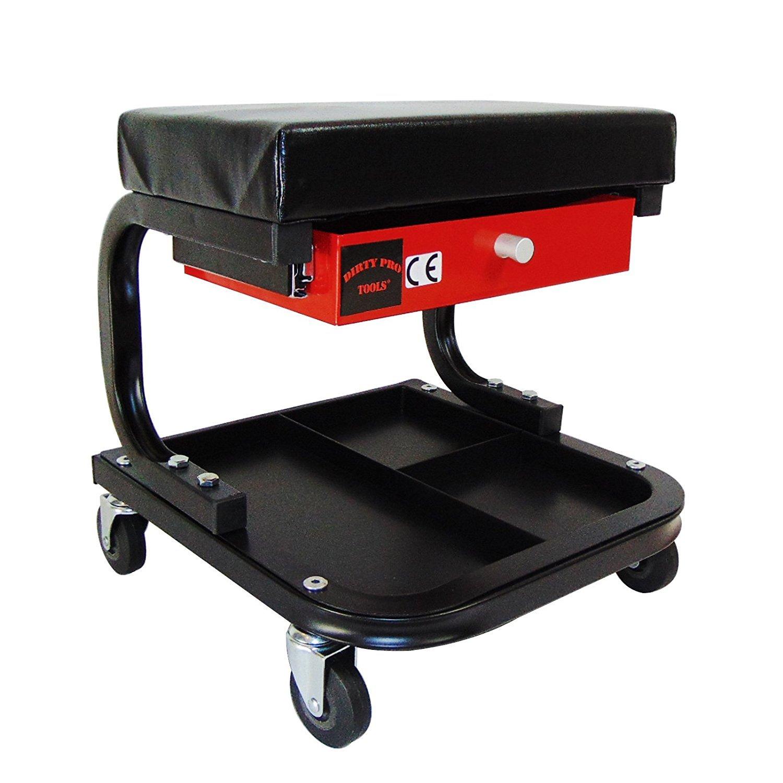 Sale Pro Toolstm mécanicien carré de voiture Vélo Garage Atelier Assise avec tiroir Creeper Tabouret Dirty Pro Tools