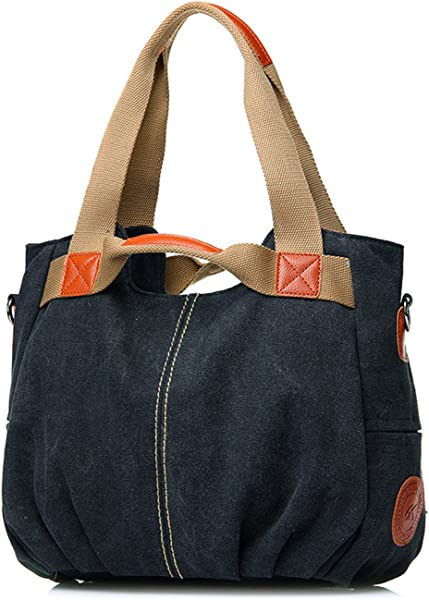 19afac09e81f Casual Canvas Handbags Retro Shoulder Bags Women Vintage Hobos Tote Bag