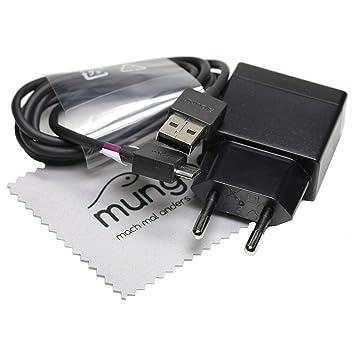 Cargador para Original Sony EP880 1.5A con cable de datos y de carga para Sony Xperia Z5, Xperia Z4, Xperia Z3, Xperia Z2, Xperia Z1 con mungoo ...