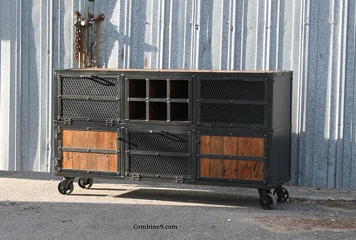 Charmant Liquor Cabinet/Bar Modern Industrial. Reclaimed Wood Top