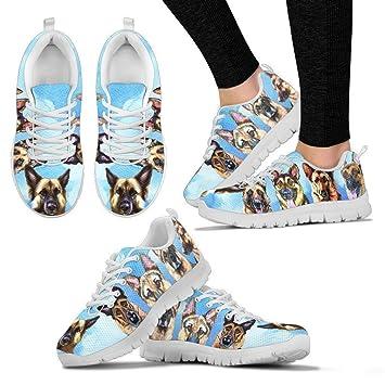 Amazon.com: Zapatillas de correr con estampado de pastor ...