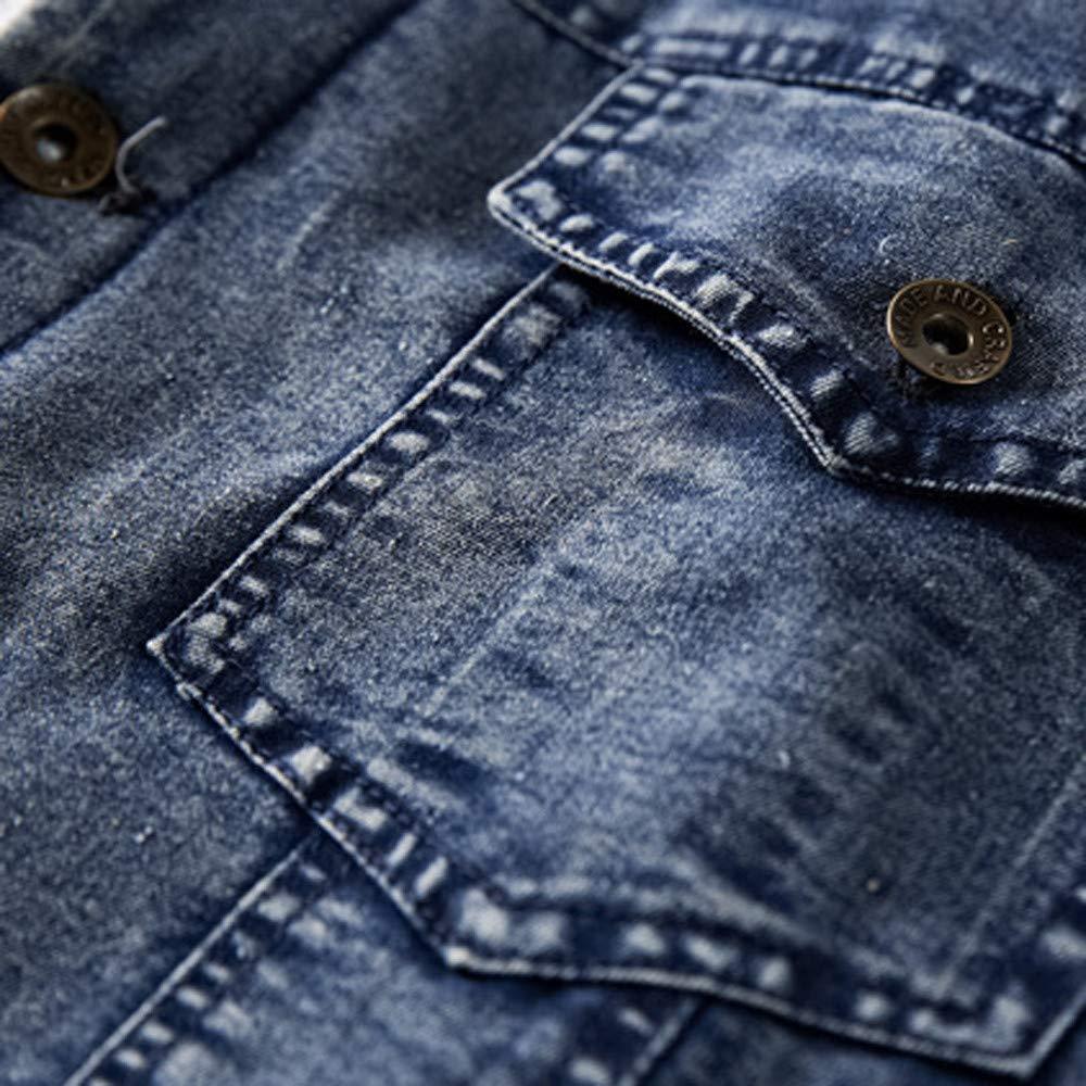 Mens Flight Suit,Mens Winter Flick Denim Loose Jacket Top Coat,Jackets for Men