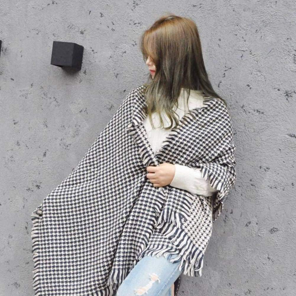 MTX Ltd European and American Streets Houndstooth Houndstooth Houndstooth Acrylic/Cgreymere Unisex/Men/Women Warm Plaid Long Otoño and Invierno Outdoor Multi-Functional Fgreyion Trend Wild Warm Shawl Scarf Gift, Rosa a795cb