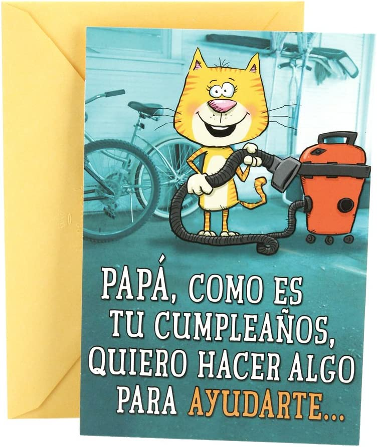 Hallmark Vida Spanish Funny Birthday Greeting Card for Dad (Clean Out Your Wallet)
