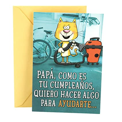 Image Unavailable Not Available For Color Hallmark Vida Spanish Funny Birthday Greeting Card