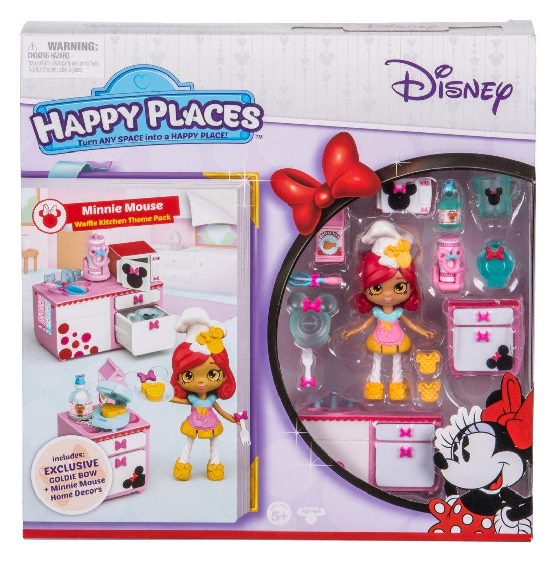 Happy Places Disney Season 1 Minnie Mouse Waffle Kitchen Theme Pack Moose Toys Import 58109