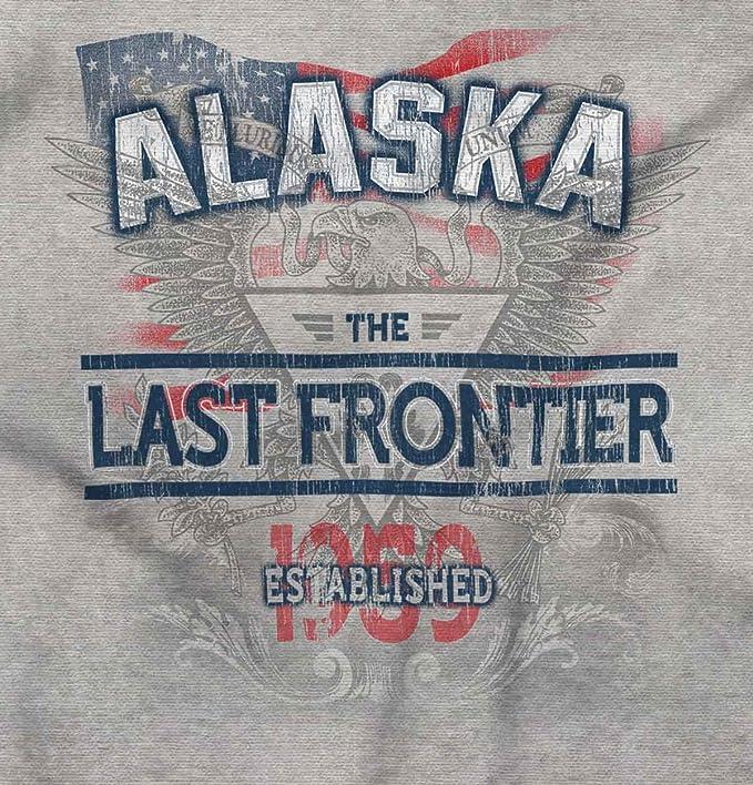 Alaska Estado American Eagle EE. UU. T Shirt patriótica Ideas de regalo sudadera con capucha sudadera - Gris - : Amazon.es: Ropa y accesorios