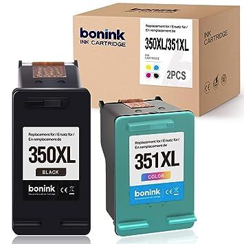 BONINK Compatible 350XL 351XL para HP 350 XL 351 XL para HP ...