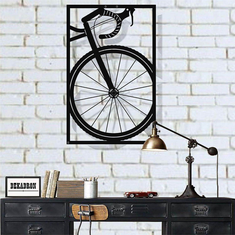 "Metal Wall Art, Bicycle Wall Art, Bike Art Metal, Metal Wall Decor, Home Decoration Living Room Decor (11""W x 18""H / 29x45 cm)"
