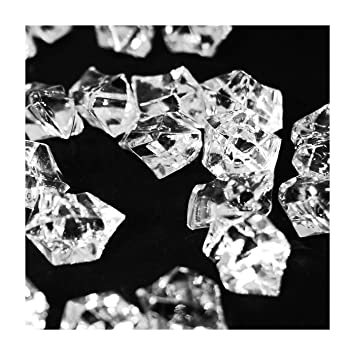 Deco4Fun 10lbs Clear Acrylic Crushed Ice Rocks Chips Cubes | 10 pounds -  2400 pieces | Bulk Crystal