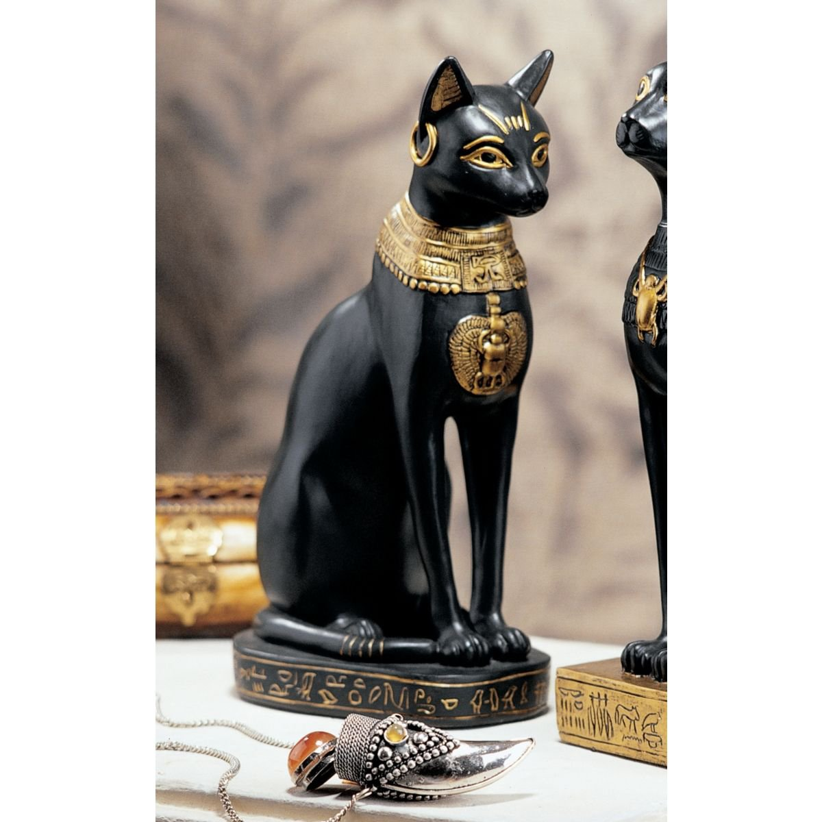 WU67897 Bastet without Earrings Design Toscano Egyptian Cat Goddess Bastet Statue