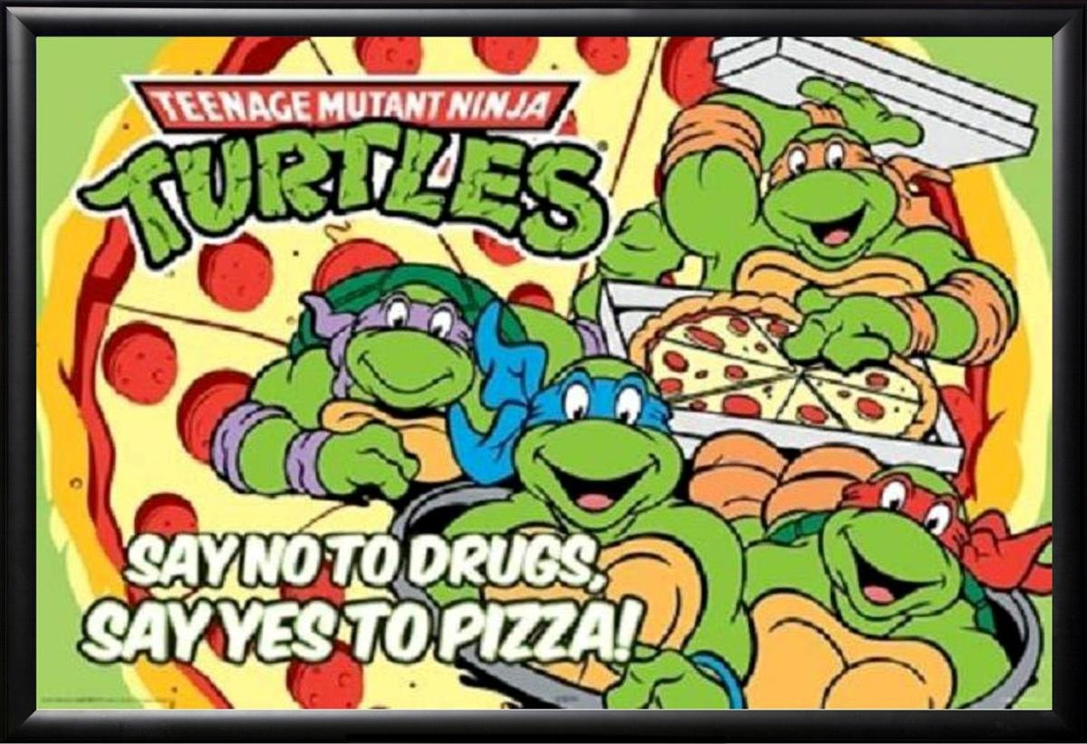 Con marco de las Tortugas Ninja - Say No a las drogas ...