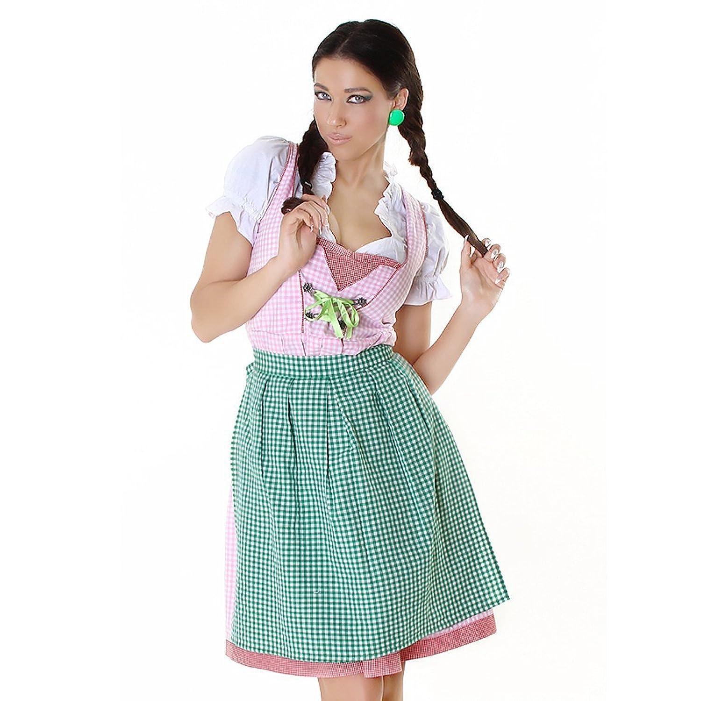 Komplettes Oktoberfest-Outfit: Dirndl, Bluse und Schürze