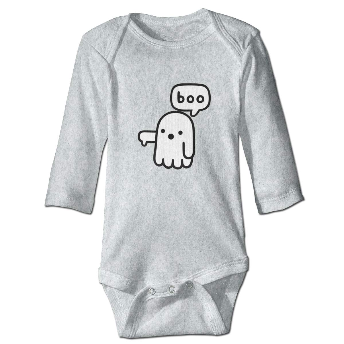 Dfenere Boo Hip Hop Newborn Baby Long Sleeve Bodysuit Romper Infant Summer Clothing