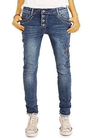 d353a6fad6d26b bestyledberlin Style Damen Girlfriend Jeans - Stretchige lockerer Passform  - j02m 34/XS