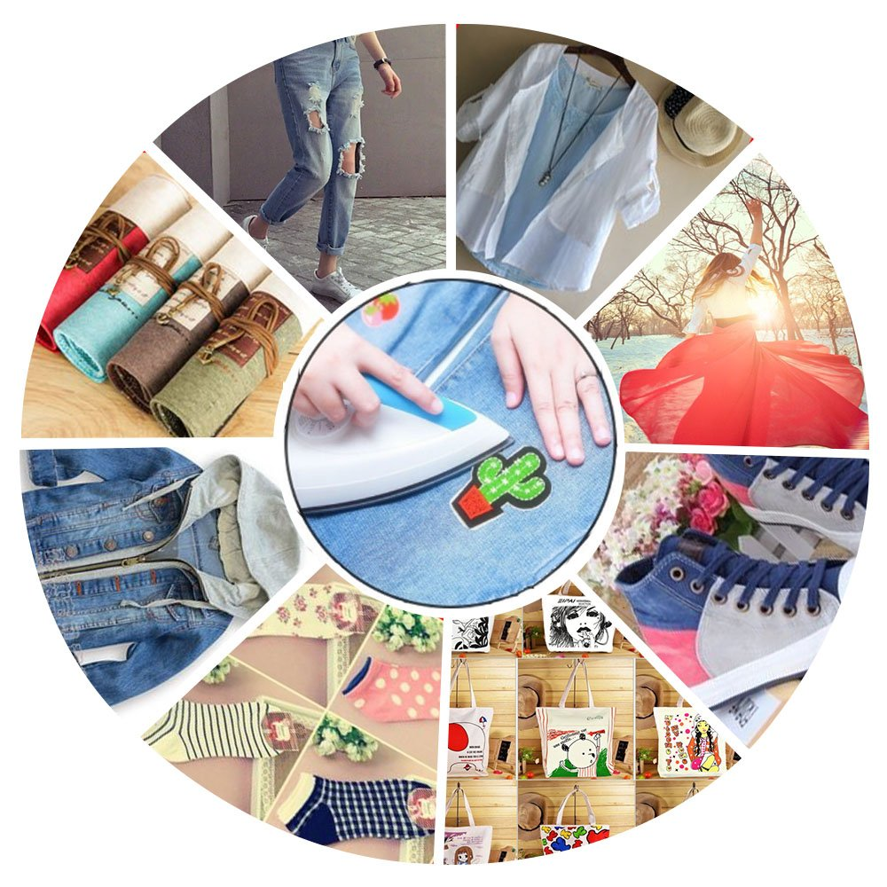 Motif Applique Kit for Clothing Embroidered Patches Appliqu/é Okdeals 32 PCS Assorted Iron On Patches