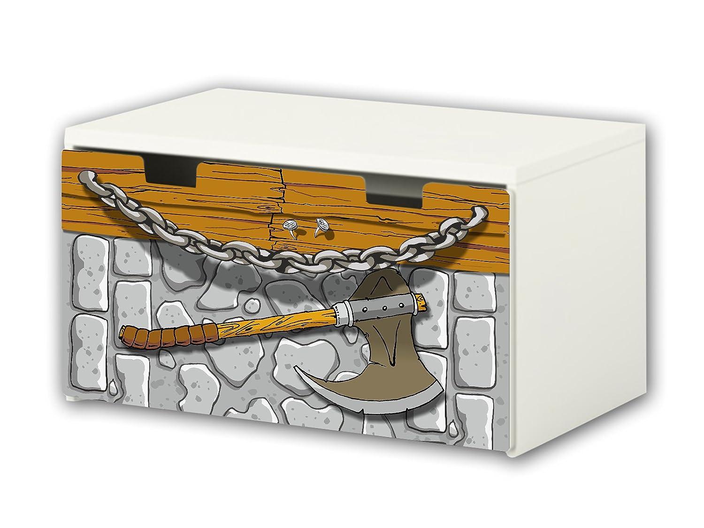 Knight Furniture Film | BT20 | Furniture sticker with butterfly Motive | matching to the children's storage bench STUVA of IKEA (90 x 50 cm) STIKKIPIX®