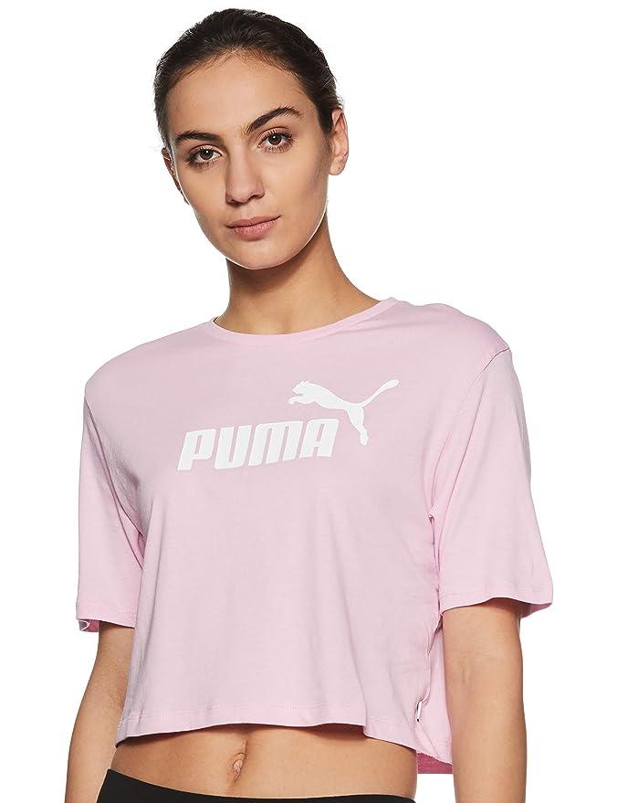 eeda4e89270 Puma Women's Ess+ Cropped Logo Tee Bra Top: Amazon.co.uk: Sports & Outdoors