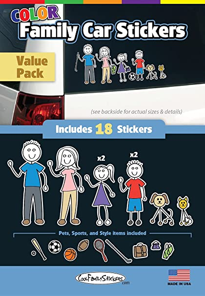 Wmi designs 12051 color accent family stickers compact kit 18