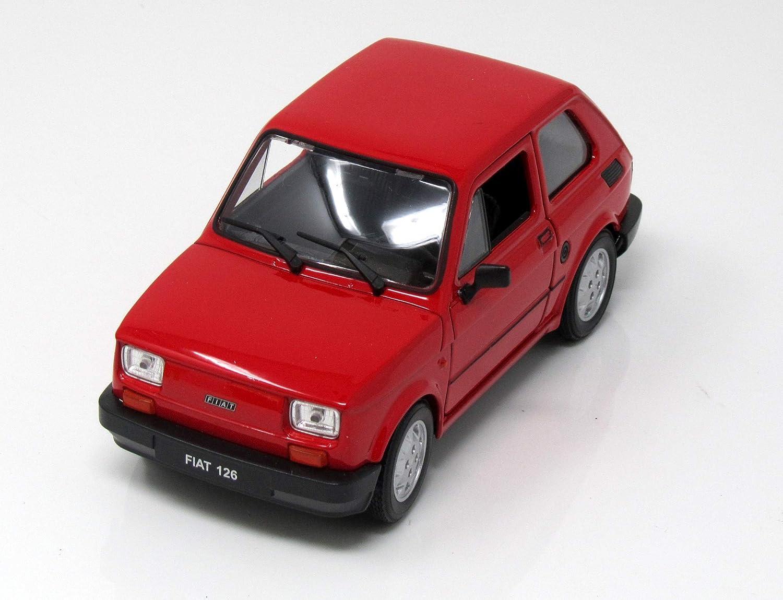 10,5 cm Neuware von WELLY FIAT 126 rot Kleinwagen Sammlermodell ca