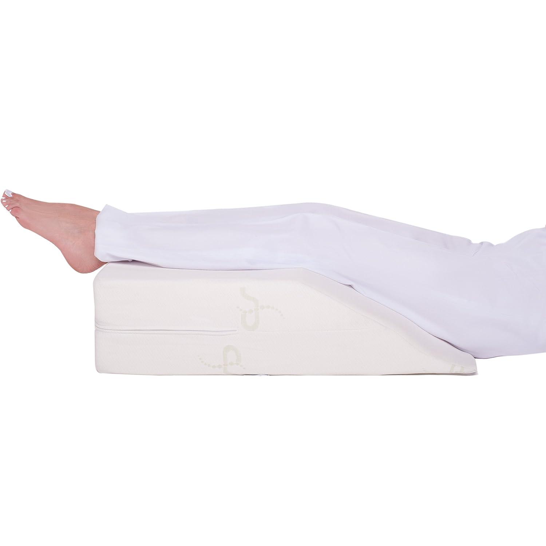 Supportiback® Supportiback® Supportiback® Orthopädisches Venenkissen – Memory-Schaum Bein-Kissen mit waschbarem Bezug – von Orthopäden entworfen – hilft bei postoperativer Genesung, Krampfadern, Rücken-, Hüft- & Beinschmerzen e31930