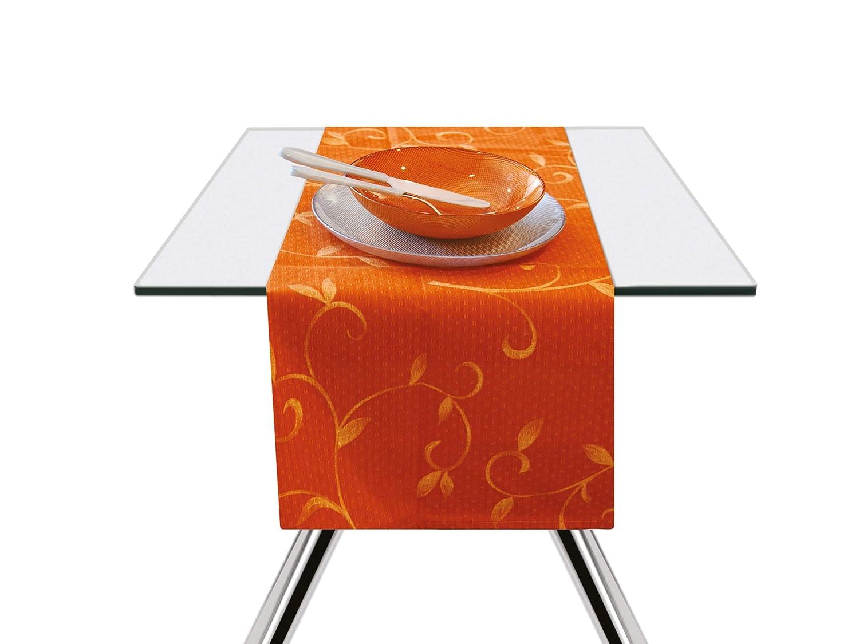 Excelsa Color Club - Camino de Mesa, algodón, Naranja, 45 x 140 cm ...