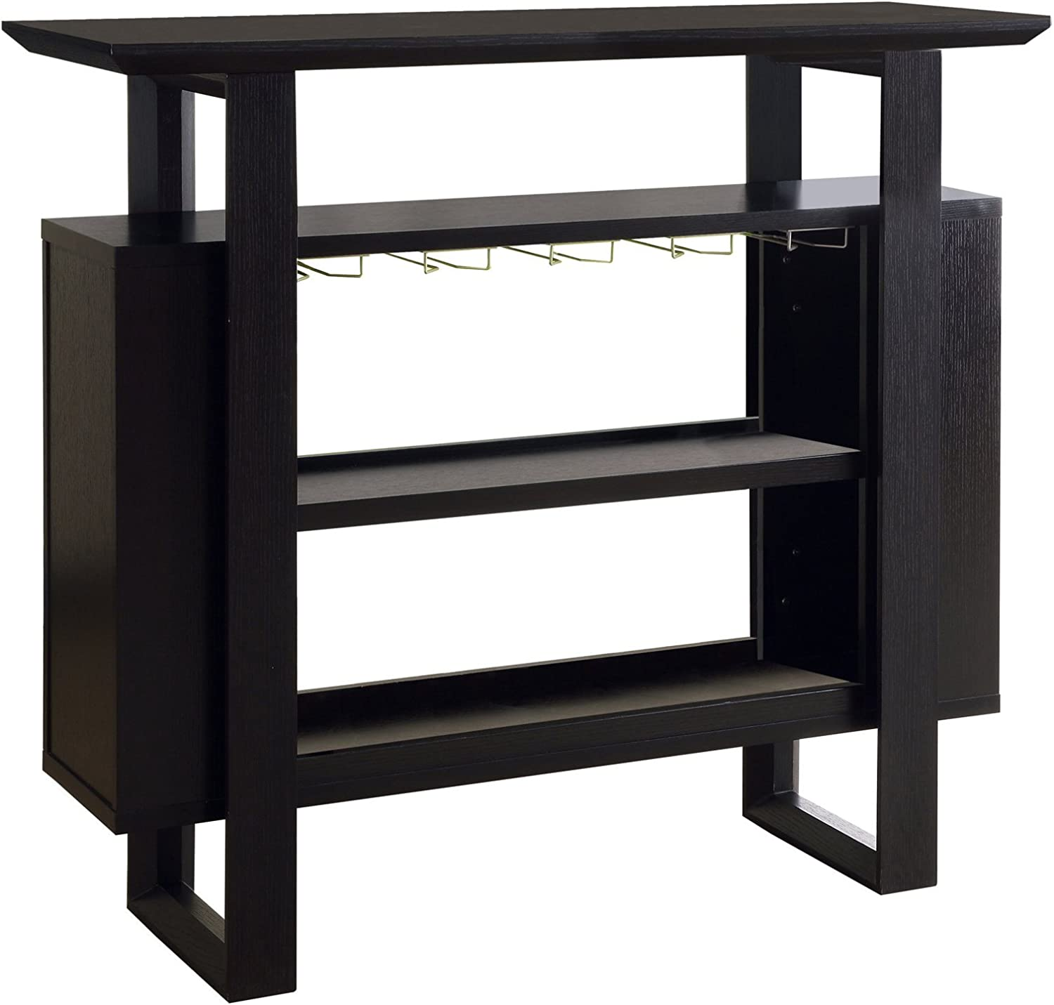"""Monarch Specialties I Bar Unit with Bottle and Glass Storage, 48"""", Cappuccino"""