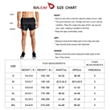 BALEAF Men's 3 Inches Running Shorts Quick Dry Gym