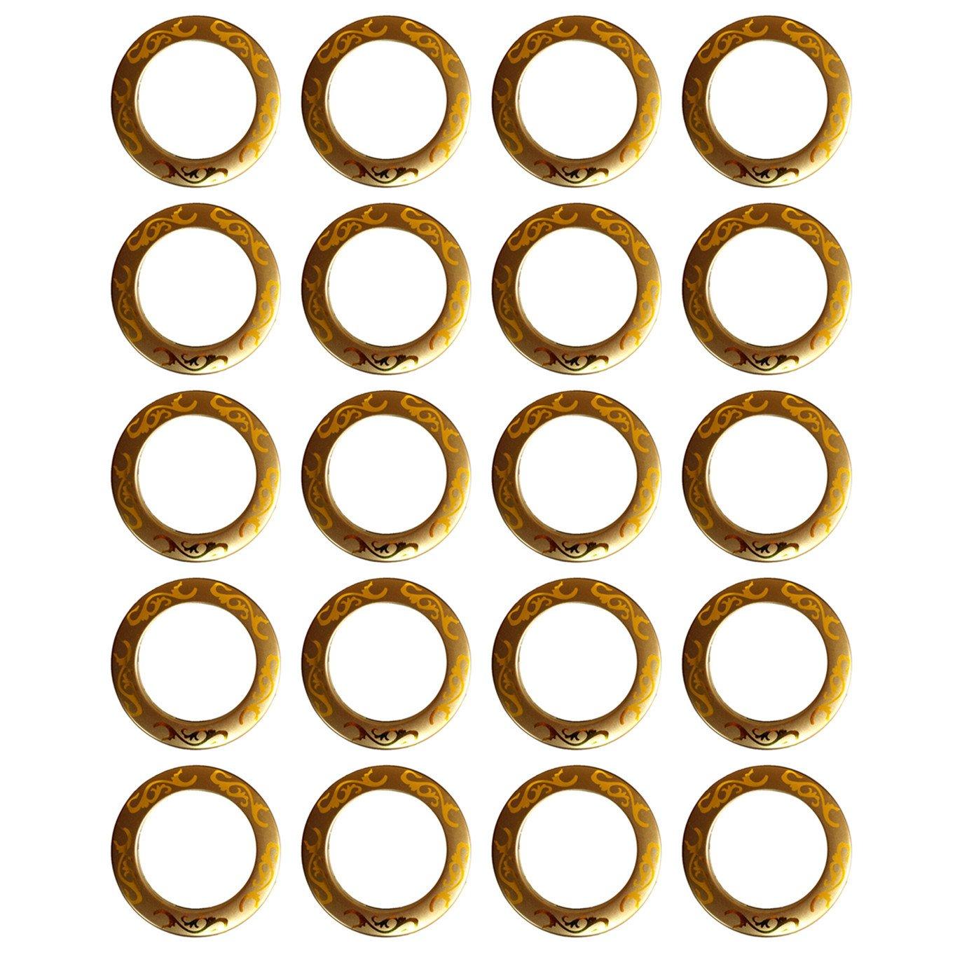 Selling Wonderful 20-Pack 1-9/16-Inch Inner Diameter Curtain Grommets Style2 (Gold)