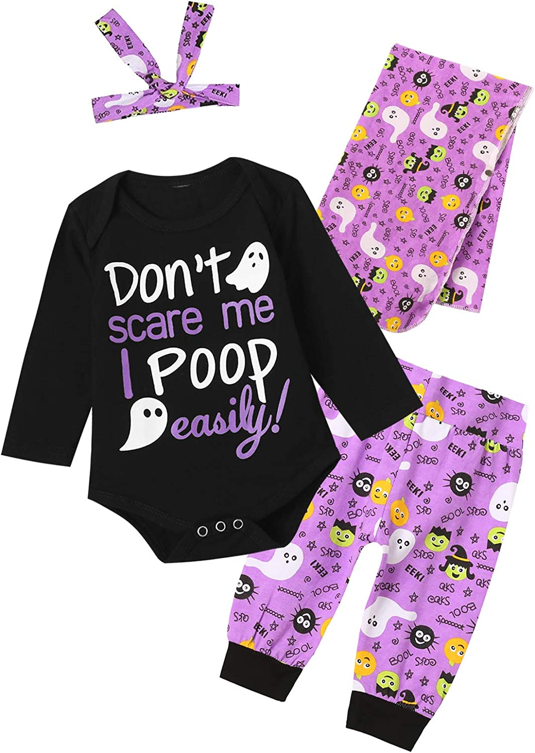 Dramiposs Newborn Baby Girl Hello World Outfit Wave Point Floral Bodysuit with Blanket