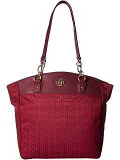 Tommy Hilfiger Womens Evaline Convertible Tote