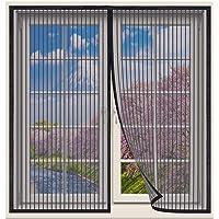 Magnetische Vliegengordijn,70x200cm klamboe Hordeur,Raamhor met magneet,gaasvliegengordijn klamboe voor raam en hordeur…