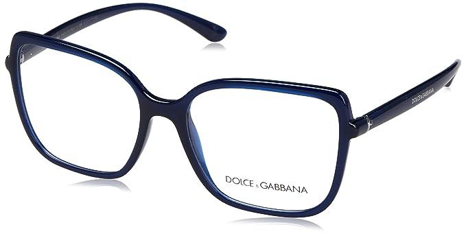 6baf88c716 Dolce & Gabbana Monture de lunettes - Femme Bleu Bleu opale: Amazon ...